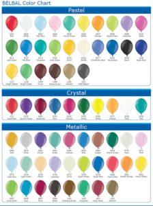 расцветки воздушных шаров