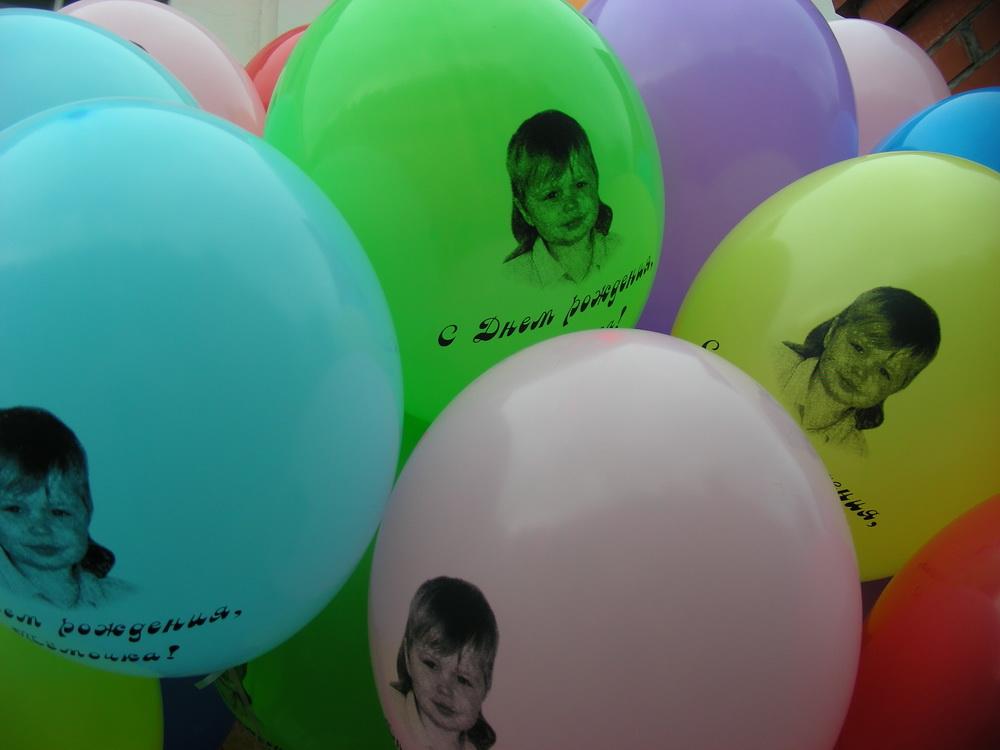 печать фото на шарах