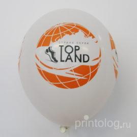 Печать на воздушном шаре в два цвета