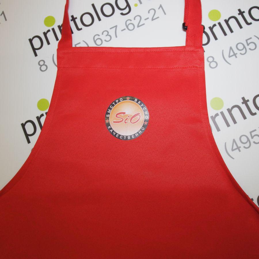 печать логотипа на фартуке
