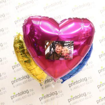 печать фото на фольгированных шарах