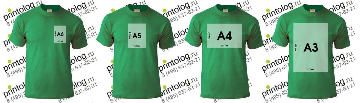 область печати на футболке